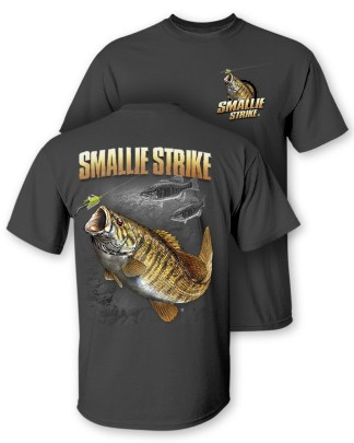 "Follow the Action - Smallmouth Bass ""Smallie Strike"" Two-Sided T-Shirt"