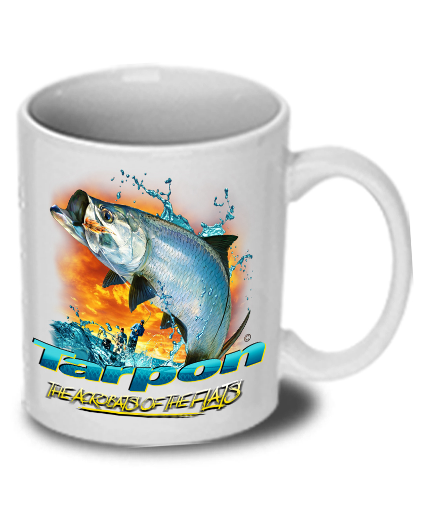 Tarpon the acrobats of the flats t shirt and mug premium gift set follow the action tarpon acrobats of the flats ceramic mug nvjuhfo Images