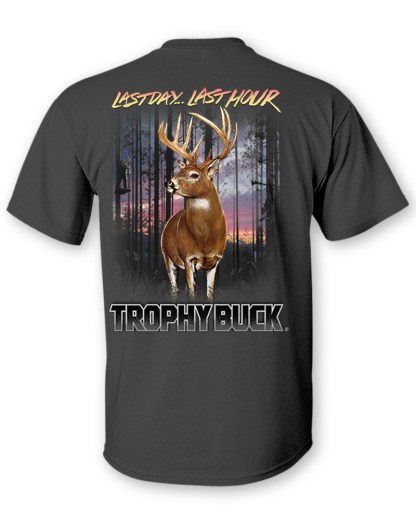 "Follow the Action - Whitetail Deer ""Trophy Buck"" Two- Sided T-Shirt- Back"