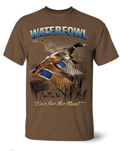 Follow the Action- Waterfowl (Duck) One-Sided T-Shirt