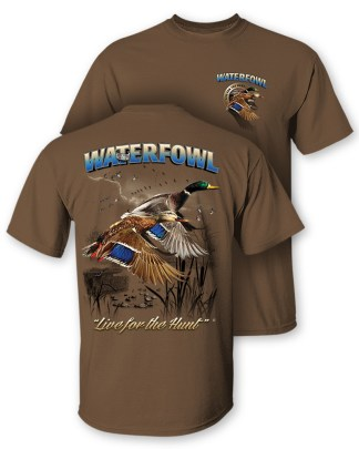 Follow the Action - Waterfowl (Duck) Two-Sided T-Shirt