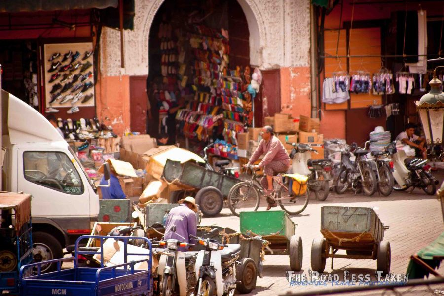 Moroccan shoe shops, Marrakech