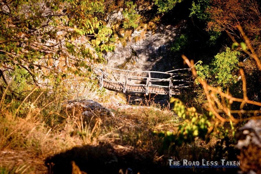 Wooden bridge, Veliko Tarnovo Gorge