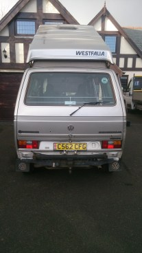 VW Syncro Westfalia in Silver - Back