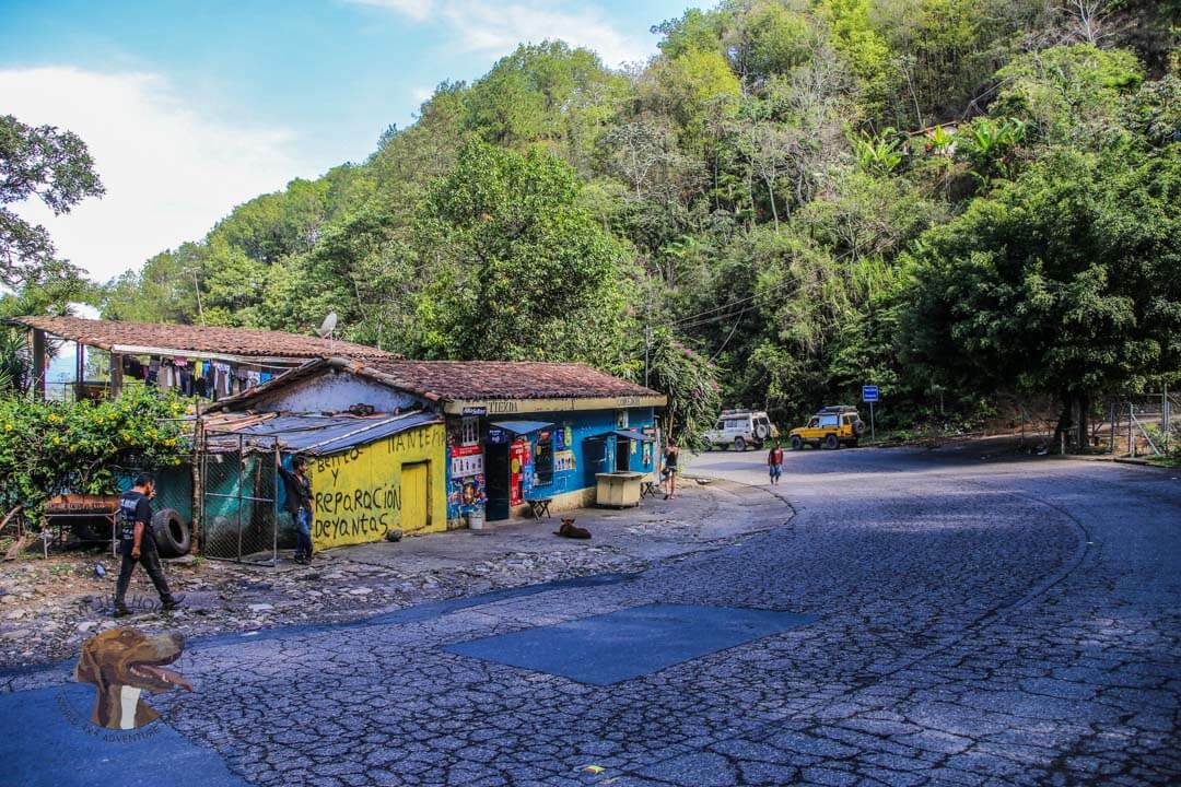 Landcruiser's on the cobbled mountain roads of El Salvador