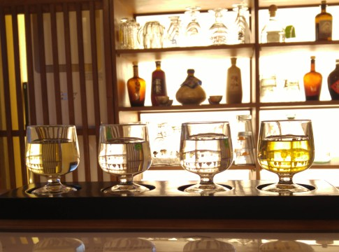 Juban, traditional Korean alcohol and fusion food, in Seochon, Seoul.