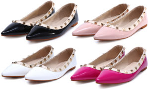 shein-pointed-toe-pyramid-studded-ballerina-flats-patent-valentino-rockstud-dupes