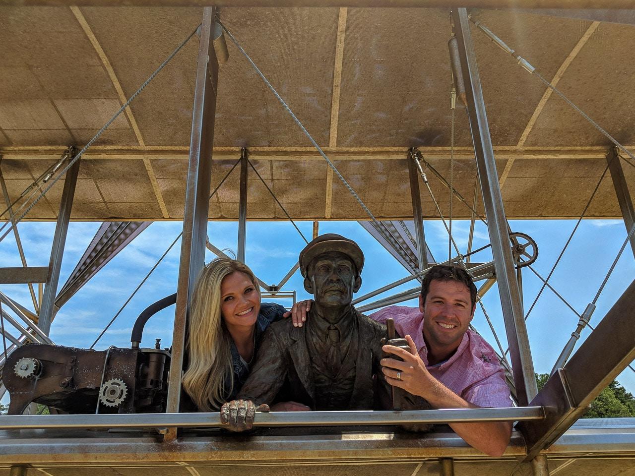 Dan and Lindsay at Wright Brothers Memorial