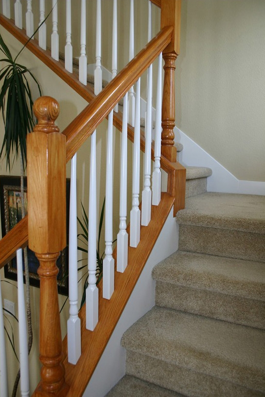 Wood Balusters Folsom Stair Woodworks | Replacement Wood Stair Balusters | Cheap | Horizontal | Hallway | Split Entry | Cast Iron