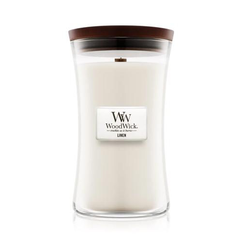 Woodwick Linen vela grande