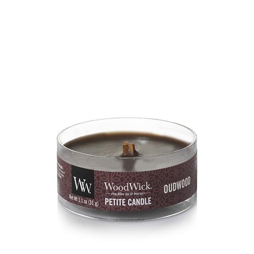 Woodwick oudwood vela petit