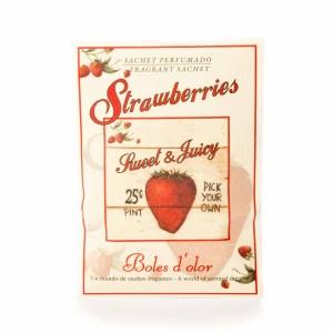Mini Sachet Strawberries Sweet Juicy