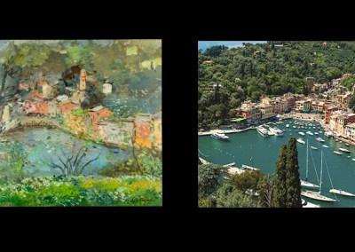 Michele Cascella, Colori di Portofino, 1953
