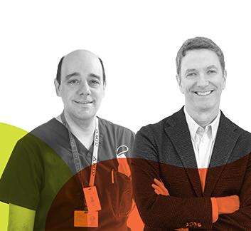 Dr François Marquis et Patrice L'Écuyer - Fonds Tous solidaires de l'HMR