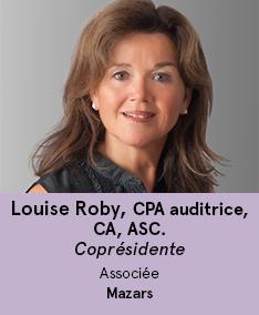 Louise Roby  - coprésidente du comité À Votre Santé!