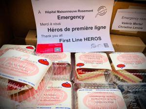Gâteaux de la Pâtisserie Jessica pour les employés de l'urgence