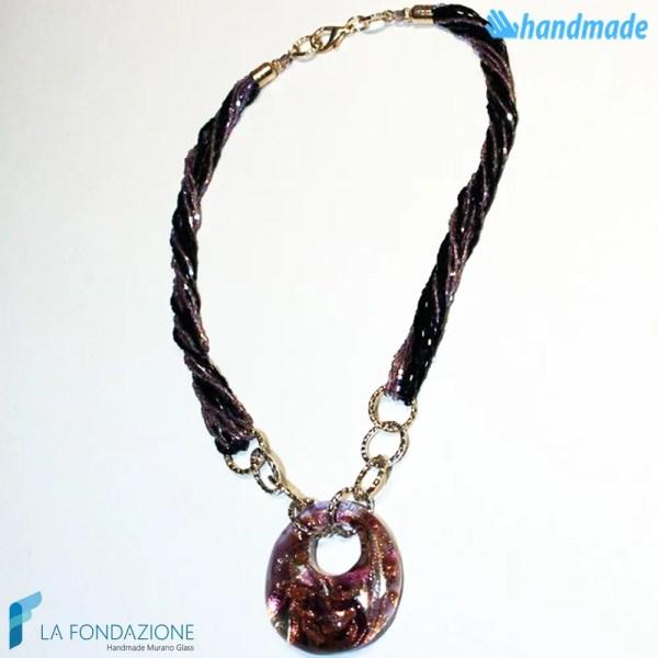 Collana Pavone Perle in vetro di Murano - COLL0025