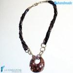 Collana Pavone Perle in vetro di Murano – COLL0025