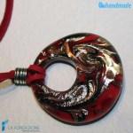 Pendente Foro Pavone Fuoco in vetro di Murano – PEND0051