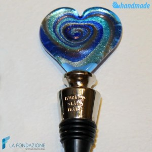 Tappo da bottiglia Cuore in vetro di Murano - CAPS0007