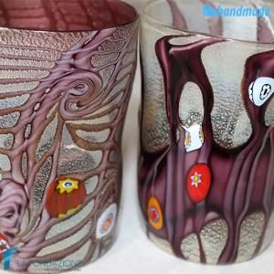 Coppia Goti Viola in vetro di Murano - GOTI0022
