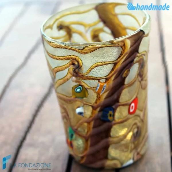 Goto Reticello Cioccolato in vetro di Murano - GOTI0029