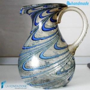 Caraffa Pavone blu in vetro di Murano - GOTI0039