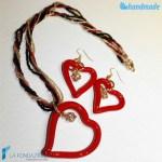 Parure Cuore Conteria Punto Luce con orecchini e collana in vetro di Murano - PARU0036