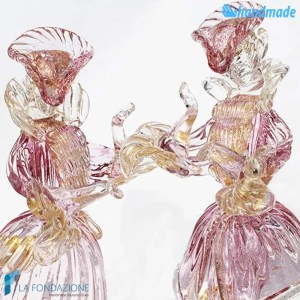 Duke and Duchess couple made in Murano glass - SCUL003