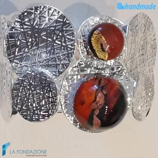 Bracciale maxi bolle oyster in vetro di Murano - BRAC0063