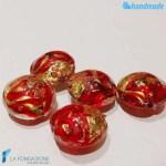 Perle Schisse Onda Rossa 16mm in vetro di Murano - PERLA002