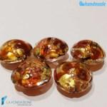 Perle Schisse Onda Ambra in vetro di Murano – PERLA004