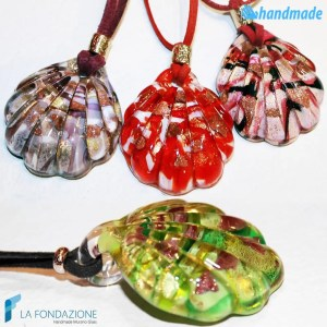 Shell Pendant made in Murano glass - PEND0041