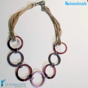 Eco circles necklace made in Murano glass - COLL0097