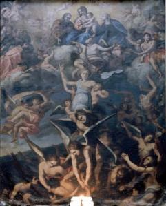 La tela delle Anime del Purgatorio di Casarano:       due autori per un dipinto