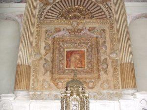 Altare Privilegiato, affresco della Madonna della Grottella
