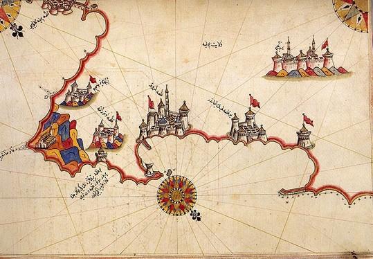 Otranto nella carta di Piri reis