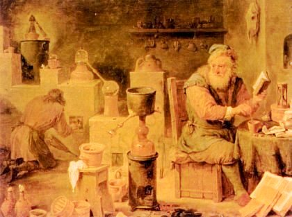"""""""L'Alchimista"""" di David Teniers il Giovane (1610-1690)"""
