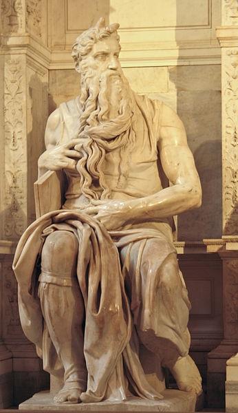 immagine tratta da http://it.wikipedia.org/wiki/File:Michelangelo%27s_Moses.jpg