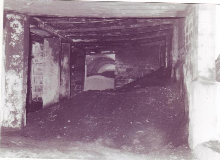 deposito di sansa nel sansificio di Spongano