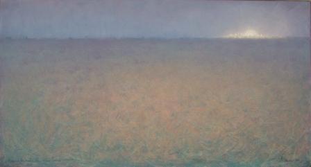 Paesaggio Notturno con Luna Park 2 (olio su tela) cm. 130 x 80