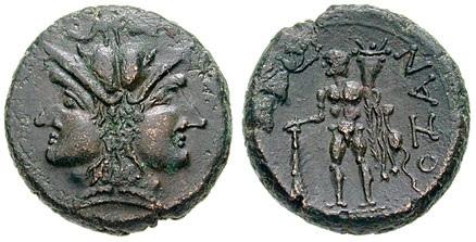 immagine tratta da http://www.wildwinds.com/coins/greece/calabria/uxentum/BMC_4.jpg