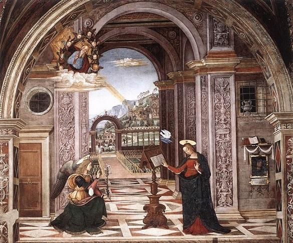 Pinturicchio (1452 c-1513) Cappella Baglioni in Santa Maria Maggiore, Spello
