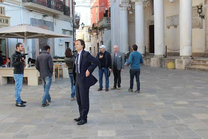 Il sindaco di Nardò Marcello Risi durante la trasmessione odierna di Ricette all'Italiana (ph Paolo D'Addario)