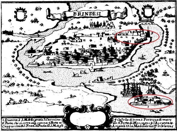 I castelli di Terra d'Otranto tra il 1584 e il 1610 in una relazione manoscritta del 1611: BRINDISI (6/6)