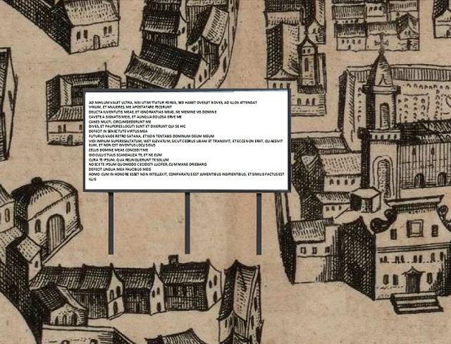 lo sfondo è un dettaglio della carta del Blaeu