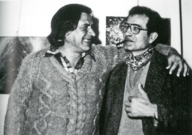 Con Edoardo De Candia presso la Galleria Osanna di Nardò