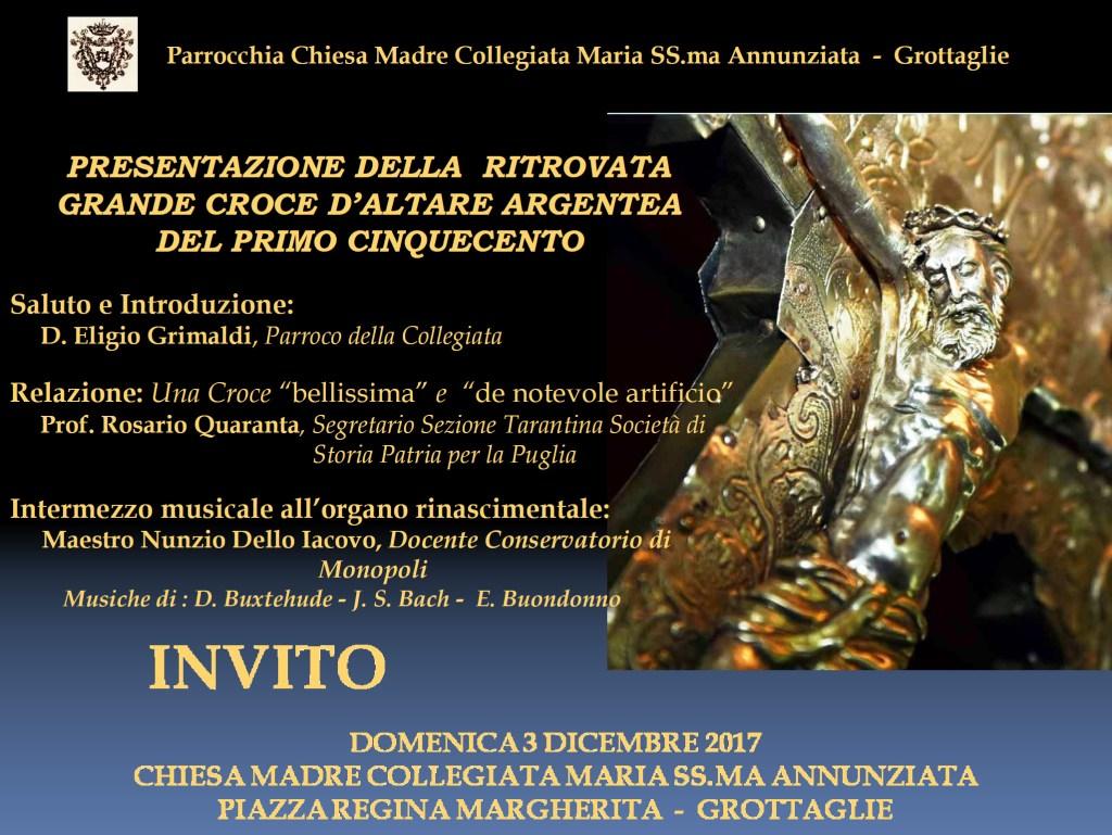 INVITO presentazione grande croce del primo Cinquecento Chiesa Madre Grottaglie.ppt