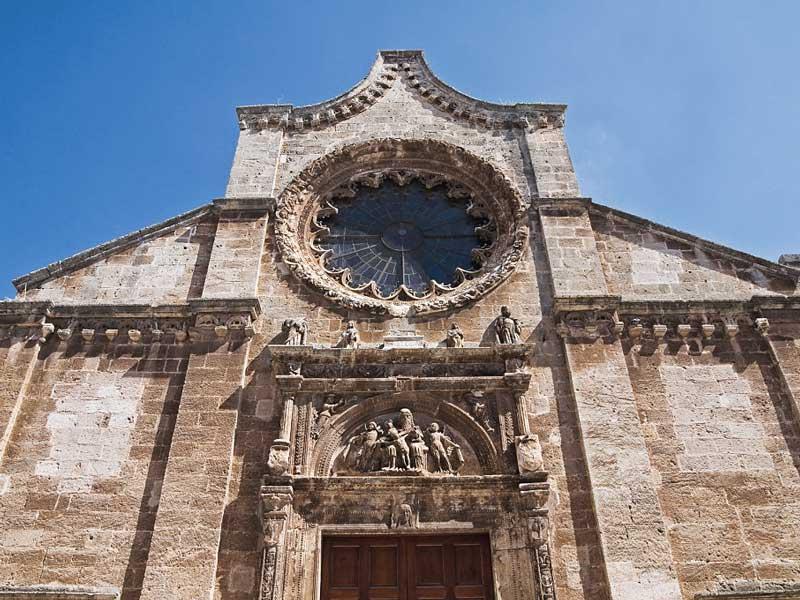 Fig. 1 – Manduria, Chiesa Matrice della SS. Trinità, facciata, particolare del portale d'ingresso