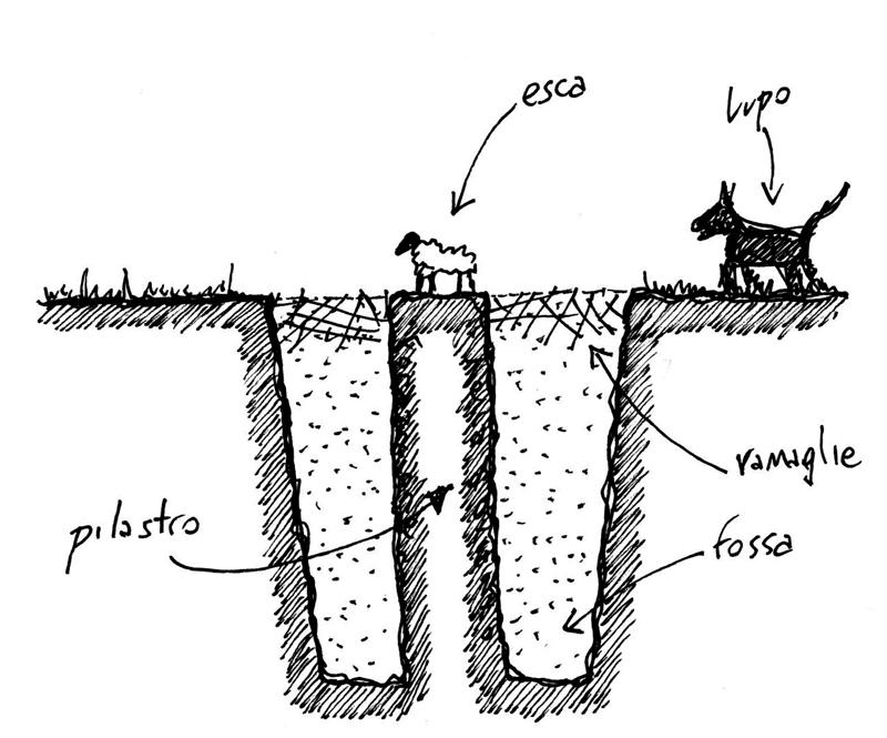 """Rilievo e ricostruzione grafica della """"lupara"""" di Porto Cesareo (disegno di Fabrizio Suppressa)"""